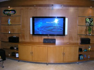 Flat TV in front desk